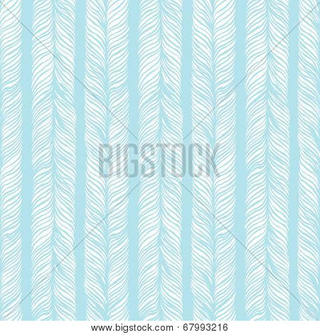 Vector Seamless Pattern consist of Plaits. Hair