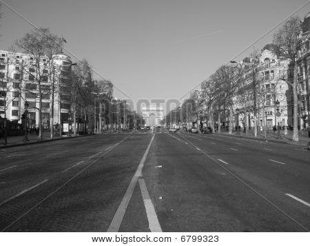 Arc de Triomphe - Arch of Triumph - champs-elysees, Paris, France