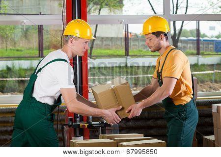Teamwork At Warehouse