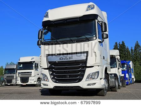 DAF XF Euro 6 Truck On A Yard