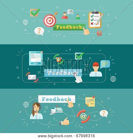 Feedback web infographic