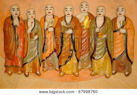 Buddhist Monks Carving