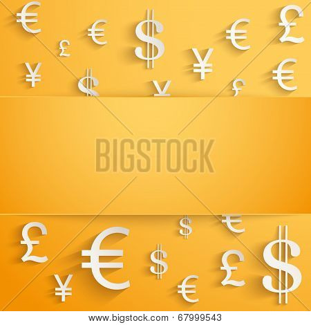Business background with money Currency symbols