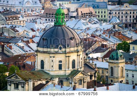 The Dome of Dominican church and monastery in Lviv