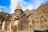picture of armenia  - ancient beautiful monastery in the mountains of Armenia - JPG