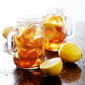 pic of southern  - southern sweet tea in a rustic jar - JPG