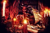 picture of hade  - Horned Devil in his home - JPG