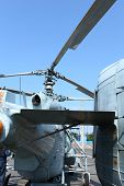 stock photo of attack helicopter  - the Two helical military Air Vehicle helicopter - JPG
