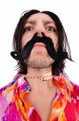 stock photo of hirsutes  - Funny mexican with sombrero hat - JPG