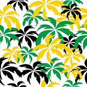 foto of rastaman  - Palm trees in Jamaica colors - JPG