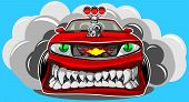 picture of dragster  - Vector illustration of a sports car in a cartoon style - JPG