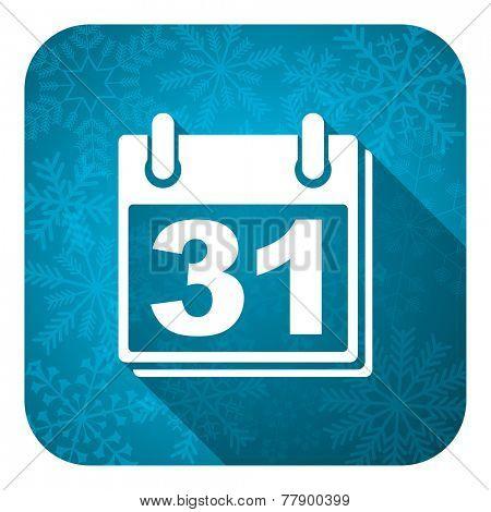 calendar flat icon, christmas button, organizer sign, agenda symbol