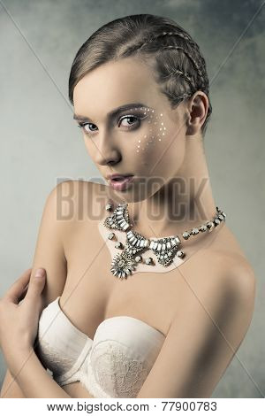 Sensual Female With Braid Hair-style