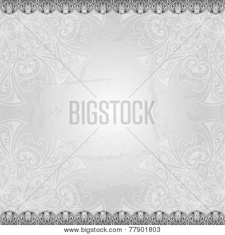 Vintage vector pattern. Hand drawn abstract background. Retro ba