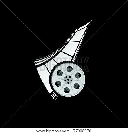 Film Tape With Film Roll Vector