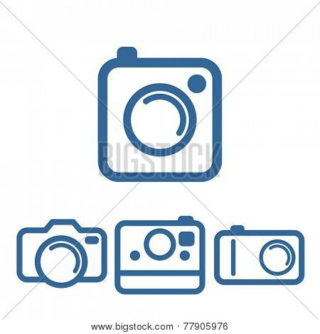 Hipsters photo camera icons