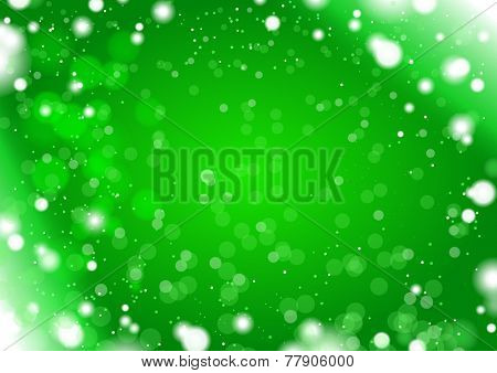 green snow light background