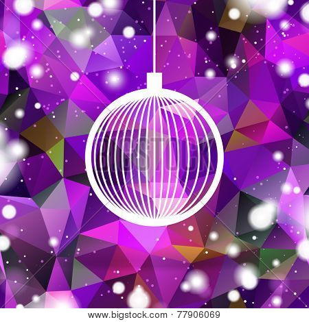 abstract purple christmas ball