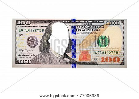 Hundred Dollar Bank Note Without Face