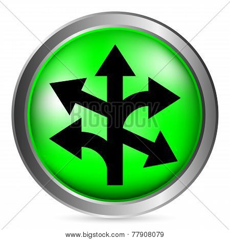 Straight, Left And Right Arrow Button