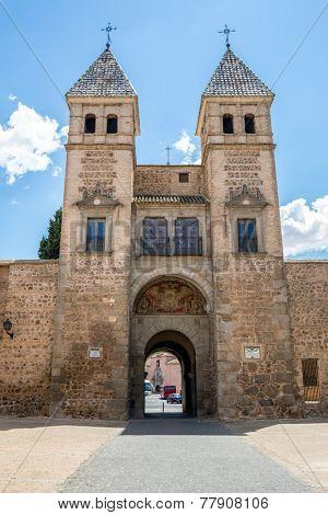Toledo's gate or Puerta de Toledo in Madrid Spain