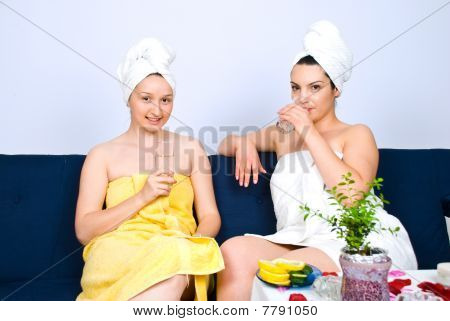 Two Women  At Daily Spa Center
