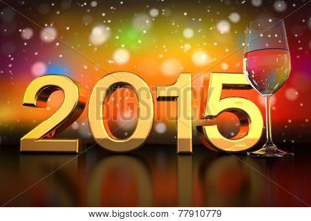 Champagne Glass - 2015 - Bokeh Background