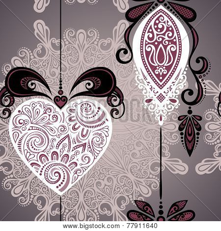 Vector Seamless Ornate Winter Pattern