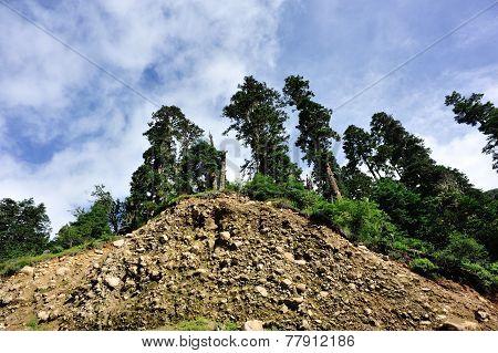 mountain landscape in tibet