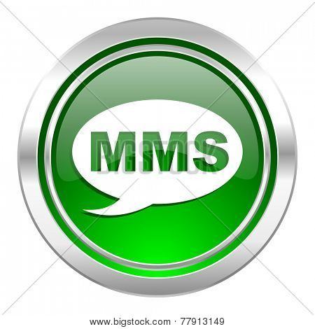 mms icon, green button, message sign