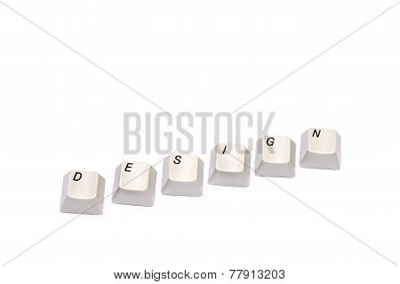Word from computer keypad buttons design