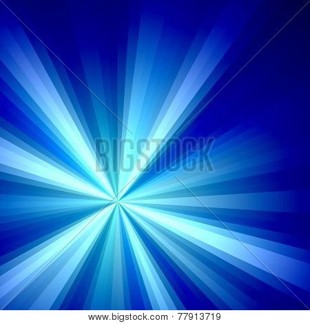 Blue Solar Burst Illustration