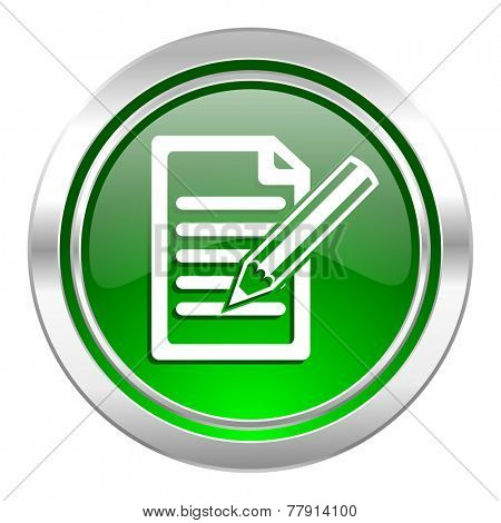 subscribe icon, green button, write sign