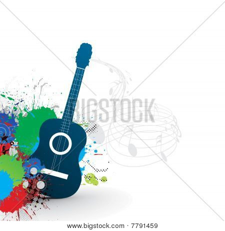 music theme with abstract rainbow color background,