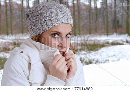 freezing woman