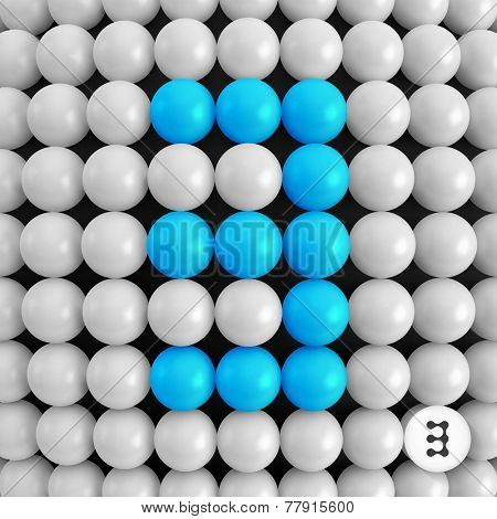 Number three. Abstract mathematics background. 3d vector illustration.
