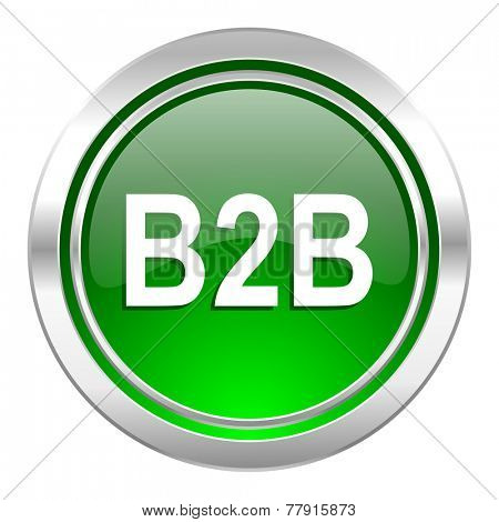 b2b icon, green button