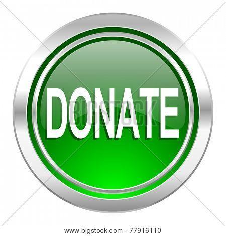 donate icon, green button