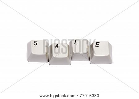 Word collected from computer keypad buttons sale isolated