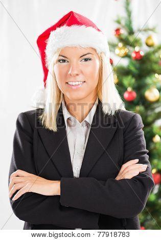 Christmas Businesswoman