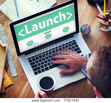 Launch Goals Aspiration Target Dreams Office Browsing Concept