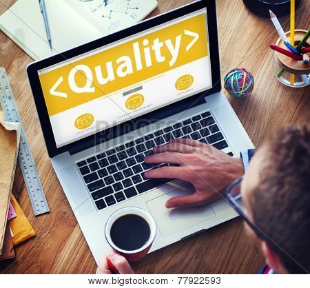 Digital Online Effective Quality Office Working Concept