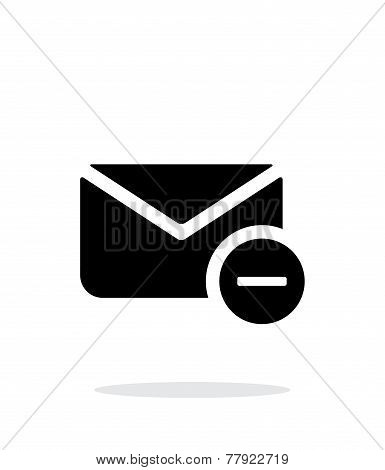 Remove mail icon on white background.