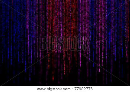 Digital Abstract Background, Colorful Matrix