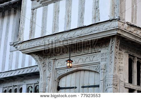 Detailed of half timbered house