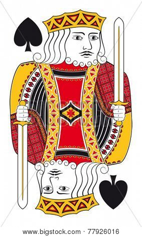 King of spades without playing card background