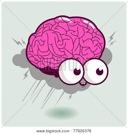 Brain storm cartoon character