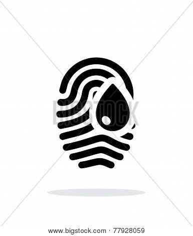 Damage fingerprint icon on white background.