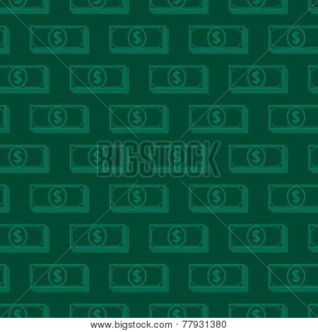 seamless background with dollar signs. money concept