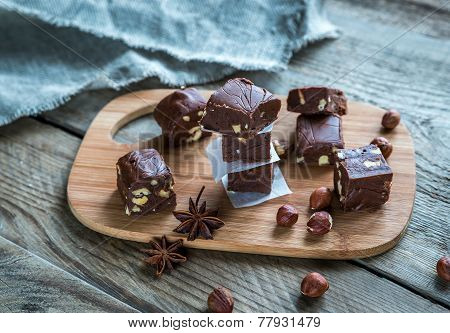 Fudge With Hazelnuts
